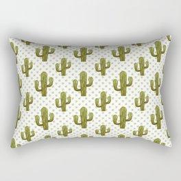 Mixed media cactus Rectangular Pillow