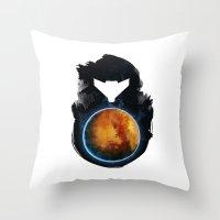 metroid Throw Pillows featuring Metroid Prime by Ian Wilding