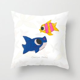 Ocean (Dibujitos de Denise) Throw Pillow