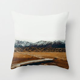The Plains and Mountains (Color) Throw Pillow