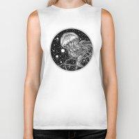 jellyfish Biker Tanks featuring Jellyfish by Corinne Elyse