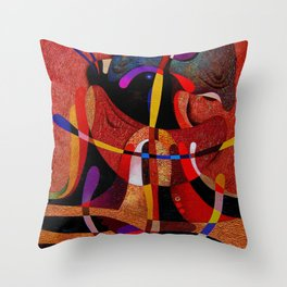 Abstract red expression Throw Pillow