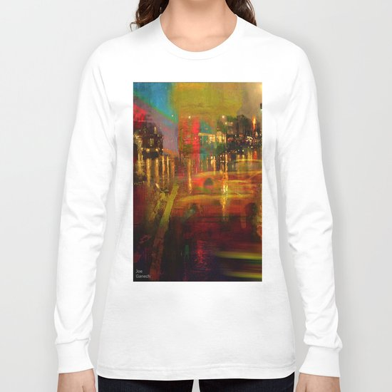 The yellow city of taxis Long Sleeve T-shirt