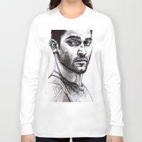 derek hale Long Sleeve T-shirts featuring TEEN WOLF - Derek Hale by Sara (aka Wisney)