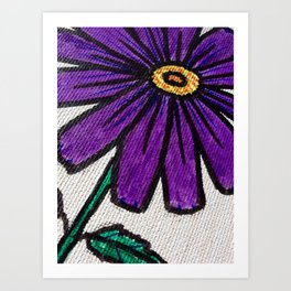 Purple daisy Art Print