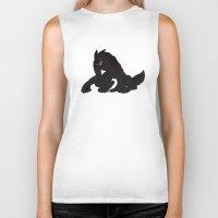 werewolf Biker Tanks featuring Werewolf by Shazuku