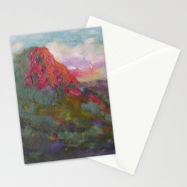Thumb Butte at Sunset Stationery Cards