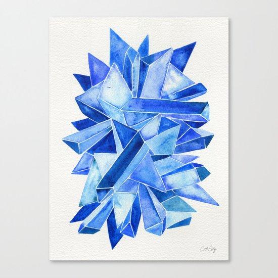 Sapphire Watercolor Facets Canvas Print