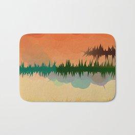 "Digital Abstract Landscape ""Minnesota Memories"" Badematte"