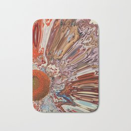 Colorful Abstract Flower Bath Mat