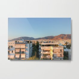 Evening Light Over Athens Metal Print