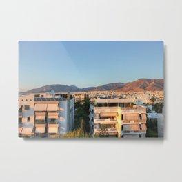 Evening Light Over Athens Metal Print