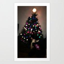 Blurry Christmas Art Print