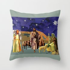 The Christmas Story Shepherds Throw Pillow