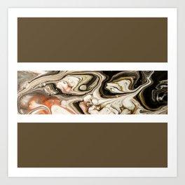 Brown Marble Vol. 10 Art Print