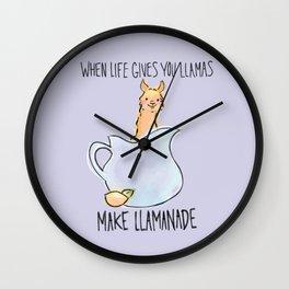 Llamanade Wall Clock