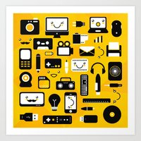 technology Art Prints featuring Technology  by adrianperive
