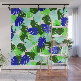 Palm Leaves Pattern Wall Mural