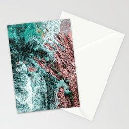 Ocean Print, Aerial Photography, Beach Print, Drone Photography, Ocean Waves, Teal Landscape, Aerial Stationery Cards