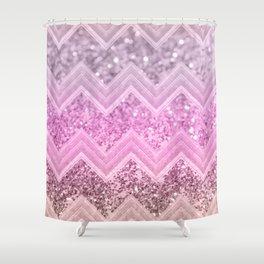 Unicorn Glitter Chevron #2 #shiny #decor #art #society6 Shower Curtain