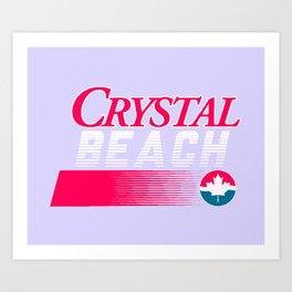 CRYSTAL BEACH Art Print