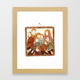 The Weasley Family Framed Art Print