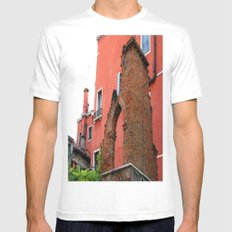 Venice Architecture White Mens Fitted Tee MEDIUM