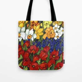 Spring Tri Color Tote Bag
