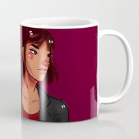 archer Mugs featuring Archer by shirley