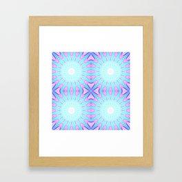 Pink & Blue Starlight Explosion Pastel Pattern Framed Art Print
