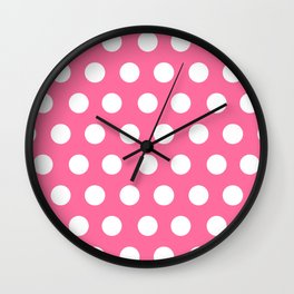 Minnie Mouse Dots | Pink Wall Clock