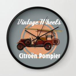 Vintage Wheels: Citroën Pompier Wall Clock