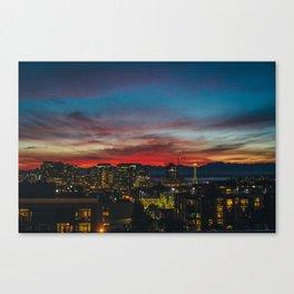Seattle Sunset Canvas Print