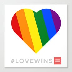 #LoveWins Canvas Print