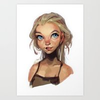 loish Art Prints featuring freckles by loish