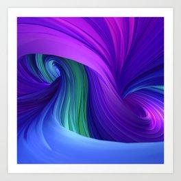 Twisting Forms #3 Art Print