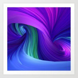 Twisting Forms #3 Art Print