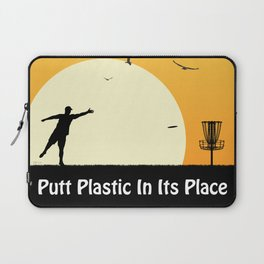 Putt Plastic In Its Place Laptop Sleeve