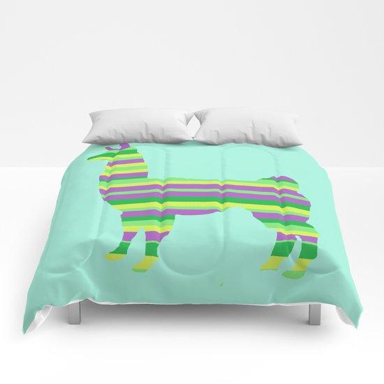 Llama Stripes Comforters
