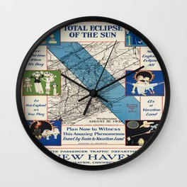 Vintage poster - New Haven Railroad Wall Clock