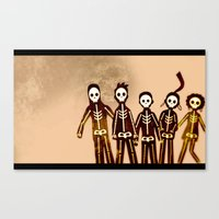 misfits Canvas Prints featuring Misfits by colleencunha