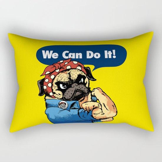 We Can Do It Rectangular Pillow