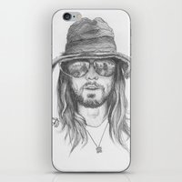 jared leto iPhone & iPod Skins featuring Jared Leto by alexandraverena