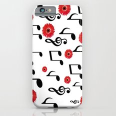 Musical Notes & Red Gerberas Slim Case iPhone 6s