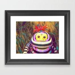 Psychedelic Monster Framed Art Print