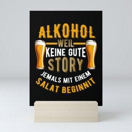 lustige Alkohol Sprüche Mini Art Print