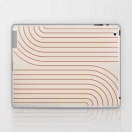 Minimal Line Curvature - Coral II Laptop & iPad Skin