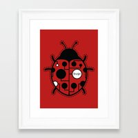 bugs Framed Art Prints featuring bugs by Yanmos