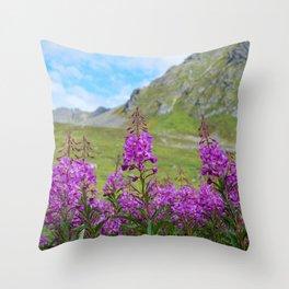 Hatcher_Pass Fireweed - Alaska Throw Pillow