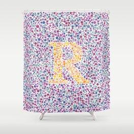 """""""R"""" Eye Test Full Shower Curtain"""